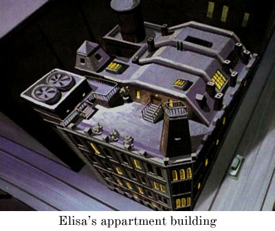Elisa's apartment building