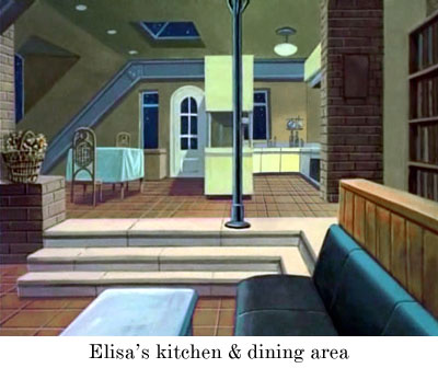 Elisa's kitchen and dining area
