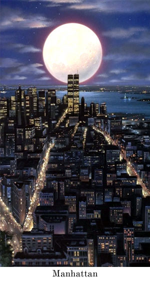 Manhatten by moonlight